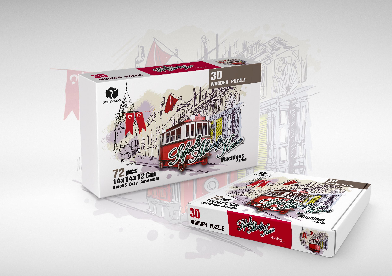 بسته بندی پازل های سه بعدی صادراتی